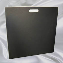 Blank black sample board.